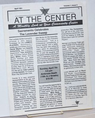 At the Center: a monthly look at your community center vol. 1, #3, April 1991; Sacramento...