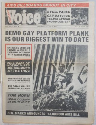 California Voice: the responsible gay press; vol. 6, #26, June 28-July 4, 1984; Demo Gay Platform...