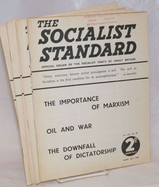 The Socialist Standard [12 issues] The Official Organ of the Socialist Party of Great Britain