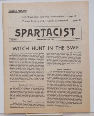 Spartacist. Number 1 (February-March 1964). Spartacist League