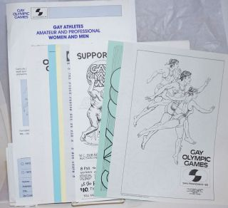 Gay Olympic Games 1982 [packet of handbills and materials