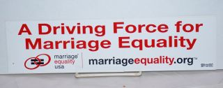 A Driving Force for Marriage Equality [bumper sticker