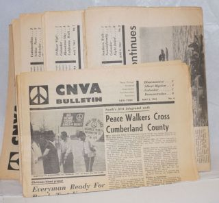 CNVA Bulletin [five issues from 1962]. Committee for Nonviolent Action
