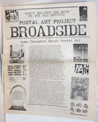 Postal Art Project Broadside May 1992; Some thoughts about postal art