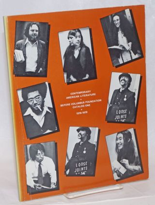Contemporary American literature: Catalog one. 1978-1979. Before Columbus Foundation