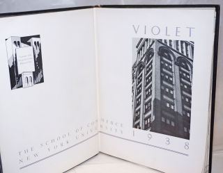 1938 Commerce Violet; The School of Commerce New York University 1938