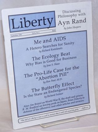 Liberty. Vol. 4 no. 1 (September 1990). R. W. Bradford, and publisher