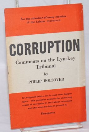 Corruption: Comments on the Lynskey Tribunal. Philip Bolsover