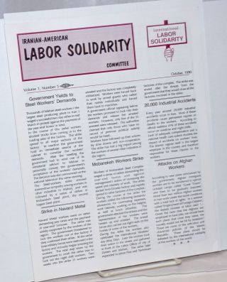 Iranian-American Labor Solidarity Committee. Vol. 1 no. 5 (Oct. 1990