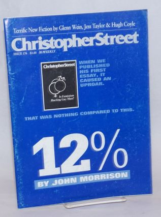 Christopher Street: #176; The Epidemic of Lies part seven. Charles L. Ortleb, John Morrison...