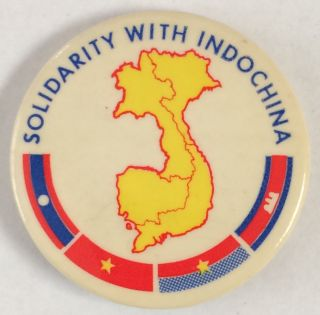 Solidarity with Indochina [pinback button
