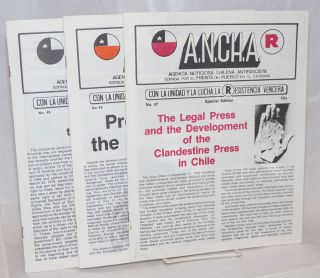 ANCHA [three issues: 47, 48, 49]. Agencia Noticiosa Chilena Antifascista