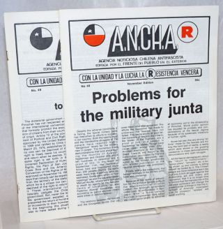 ANCHA [two issues: 48, 49]. Agencia Noticiosa Chilena Antifascista