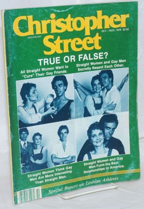 Christopher Street: vol. 4, #3, Oct./Nov. 1979; True or False? Charles L. Ortleb, Emily Siskey...