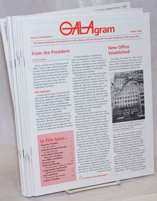 GALAgram [newsletter] 16 issue broken run