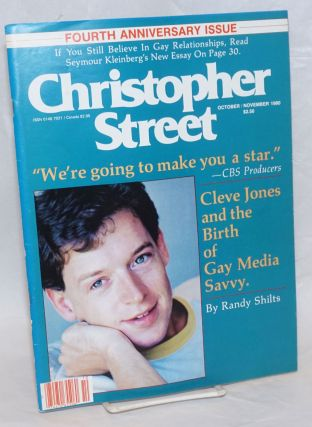 Christopher Street: vol. 5, #1, October/November 1980; Cleve Jones & the birth of gay media...