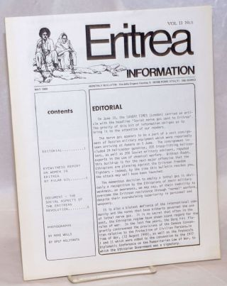 Eritrea information. Vol. II no. 5 (May 1980