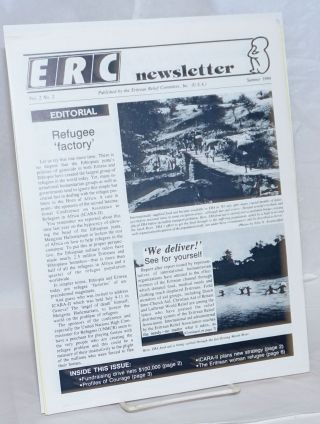 ERC newsletter [two issues]. Eritrean Relief Committee