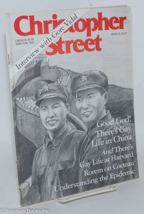 Christopher Street: vol. 6, #2, March, 1982, issue #62: Good God! There's Gay Life in China and...