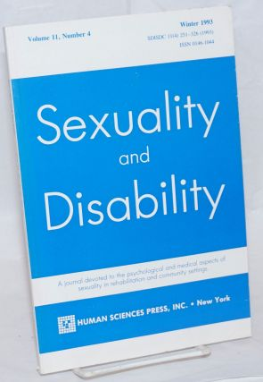 Sexuality and Disability: a journal devoted to the psychological and medical aspects of sexuality...