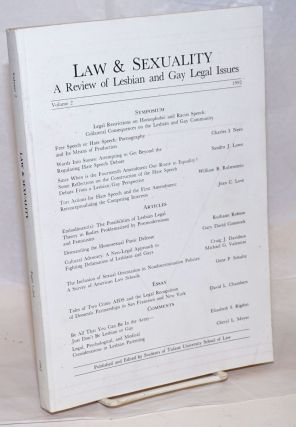 Law & Sexuality: a review of lesbian and gay legal issues, volume 2, 1992; Symposium: Legal...