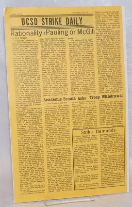 UCSD Strike Daily. Issue No. 2 (Thursday, May 22, 1969