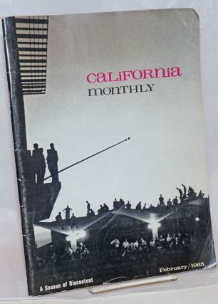 California Monthly, A Season of Discontent. vol. lxxv, no. 5, February/1965. Richard Erickson