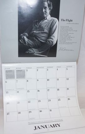 1980. Cody's Calendar of Contemporary Poets [featuring] John Ashbery, Margaret Atwood, Lawrence Ferlinghetti, Allen Ginsberg, Susan Griffin, Philip Levine, W.S. Merwin, Josephine Miles, Marge Piercy