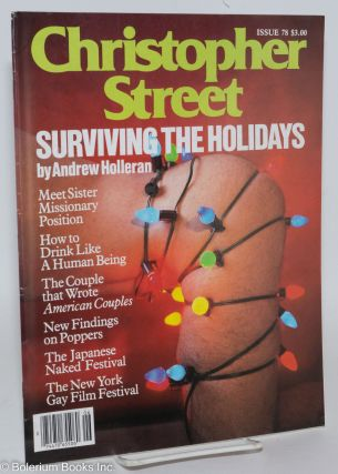 Christopher Street: vol. 7, #6, issue #78, July 1983; Surviving the Holidays. Charels L....