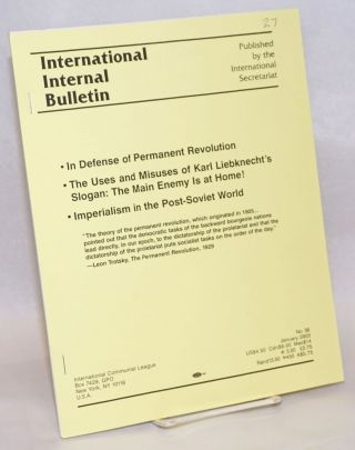International Internal Bulletin No. 56, January 2003: In Defense of Permanent Revolution; The...