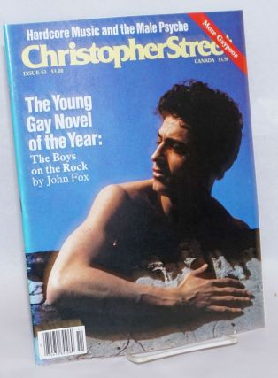 Christopher Street: vol. 7, #11, whole issue #83, December 1983; The Young Gay Novel of the...