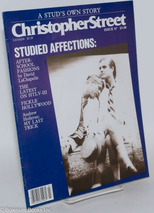 Christopher Street: vol. 8, #3, whole issue #87, April 1984: Studied Affections
