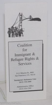 Coalition for Immigrant & Refugee Rights & Services [brochure