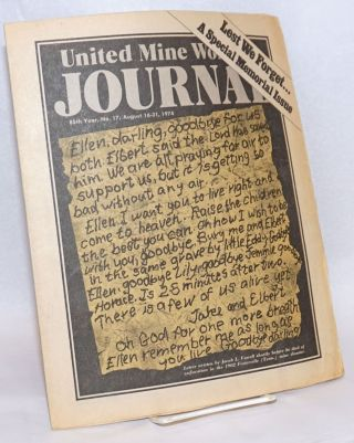 United Mine Workers Journal: 85th Year, No. 7; August 16-31, 1974; Lest We Forget...A Special...