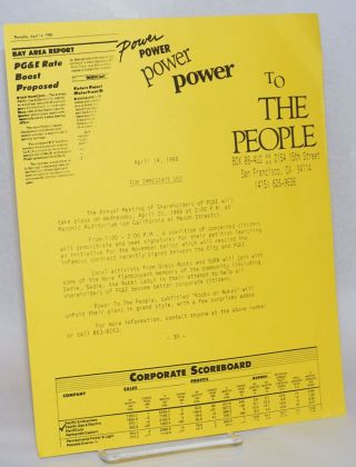 Power to the People Press Release
