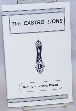 Castro Lions Sixth Anniversary Dinner [program