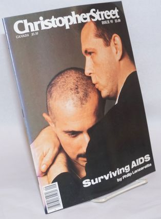 Christopher Street: vol. 8, #9, whole issue #93, October 1984; Surviving AIDS. Charels L. Ortleb,...