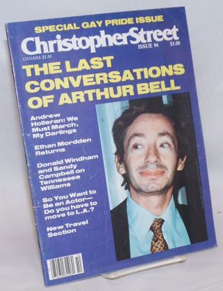 Christopher Street: vol. 8, #10, whole issue #94, November 1984; The Last Conversations of Arthur...