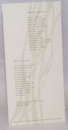 There is a dark river/Hay un rio oscurio [broadside]. Michelle Diaz Garza, Rosa Baum