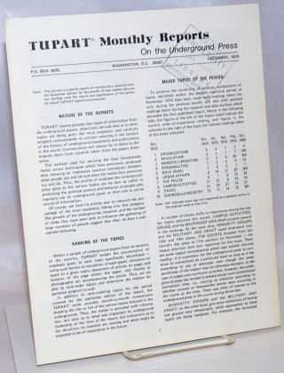 TUPART monthly reports on the underground press. Vol. 1 no. 2(Dec. 1970