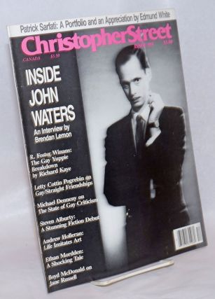 Christopher Street: vol. 9, #8, whole issue #104, October 1986; Inside John Waters. Charels L....