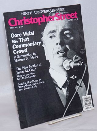 Christopher Street: vol. 10, #1, whole issue #109, March 1987; Gore Vidal vs. That Commentary...