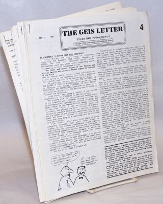 The Geis Letter: Thought Crime, Dogmacide, and Intellectual Heresy [12 issues]. Richard E. Geis