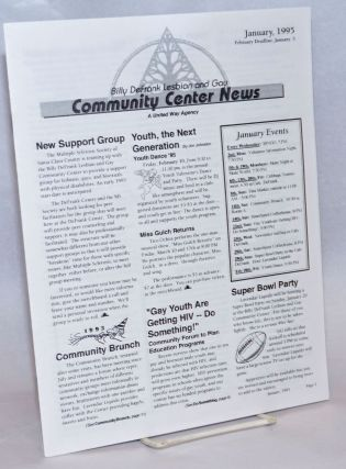The Billy DeFrank Lesbian & Gay Community Center News: January 1995. Eileen H