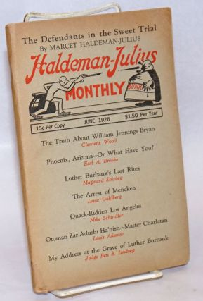 The Haldeman-Julius monthly, vol. 4, no. 1, June 1926. Emanuel Haldeman-Julius, ed