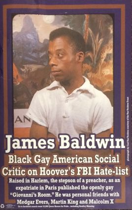 Bradley Manning, Grand Marshal and Teller of Truth to Power / James Baldwin, Black Gay American Social Critic on Hoover's FBI Hate-list [double-sided poster]