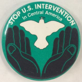 Stop US intervention in Central America [pinback button
