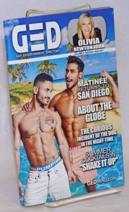 GED: Gay Entertainment Directory Year 5, #3, August, 2017: Olivia Newton John. Michael Westman