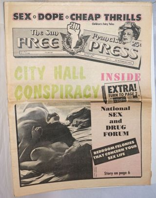 The San Francisco Free Press: vol. 1, #2, Oct. 1-14, 1969; City Hall Conspiracy. Marcus Overseth