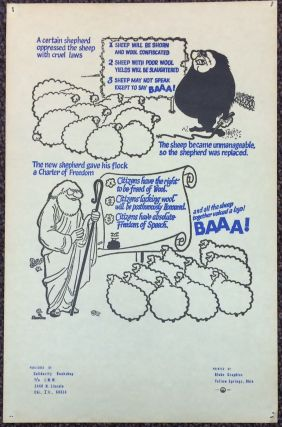 A certain shepherd oppressed the sheep with cruel laws... [poster